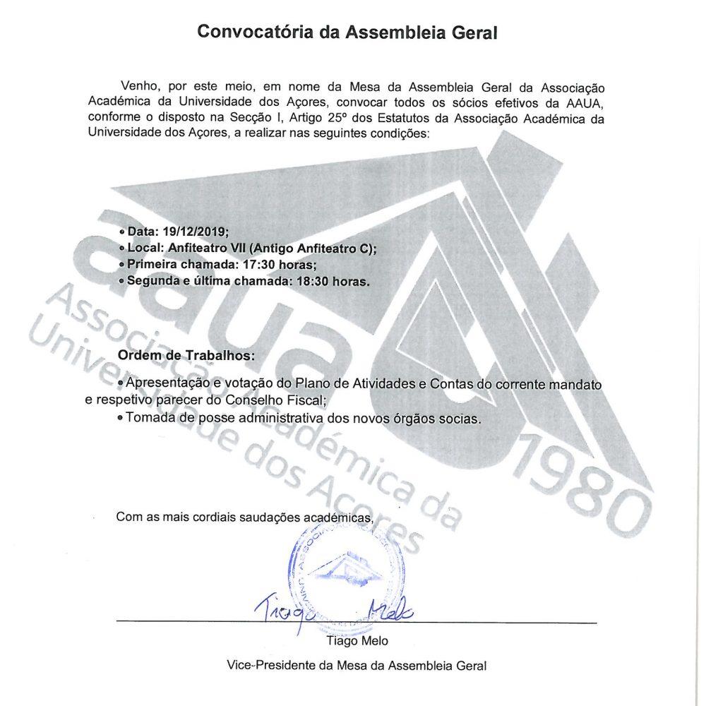 Convocatória a AG